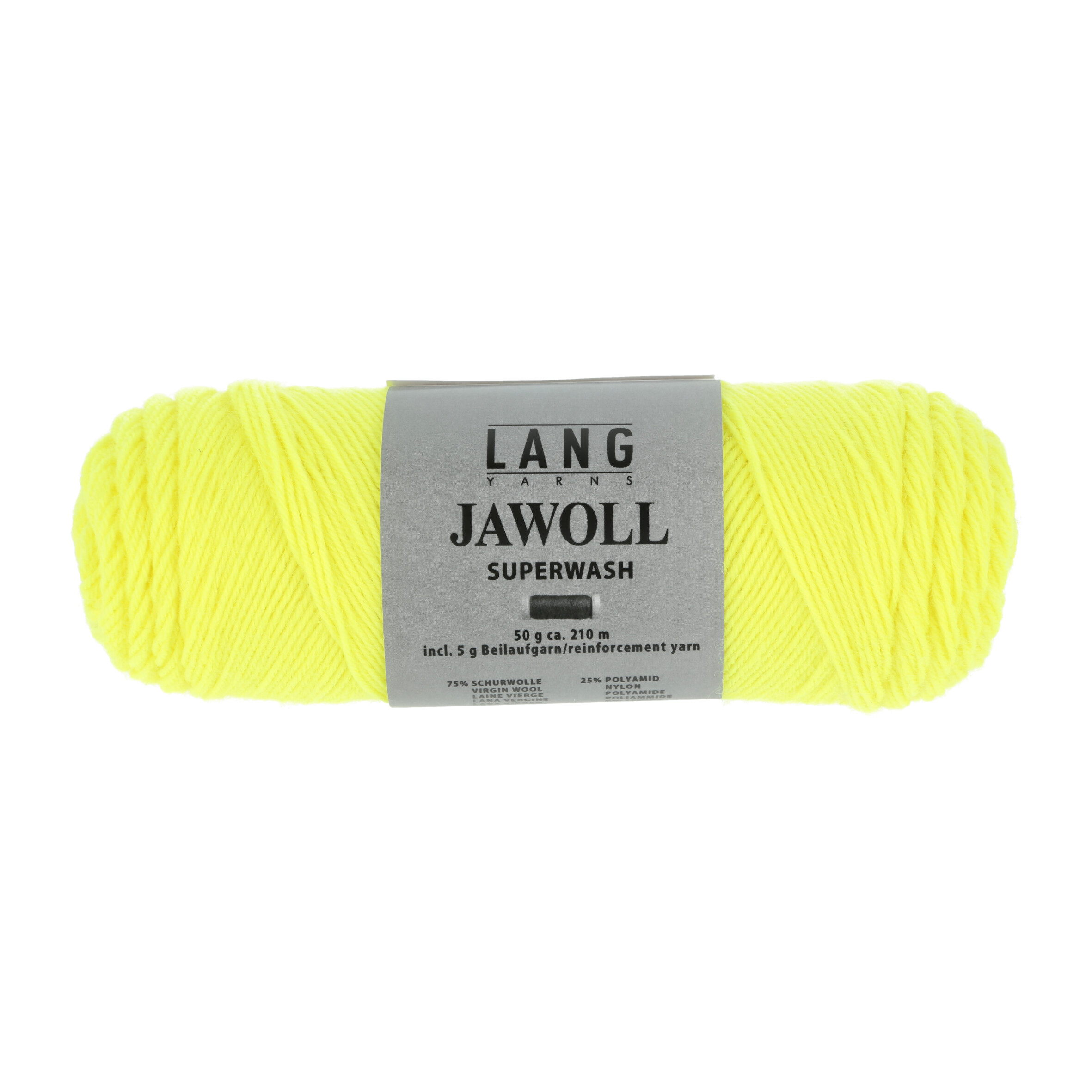 sokkenwol fluo geel