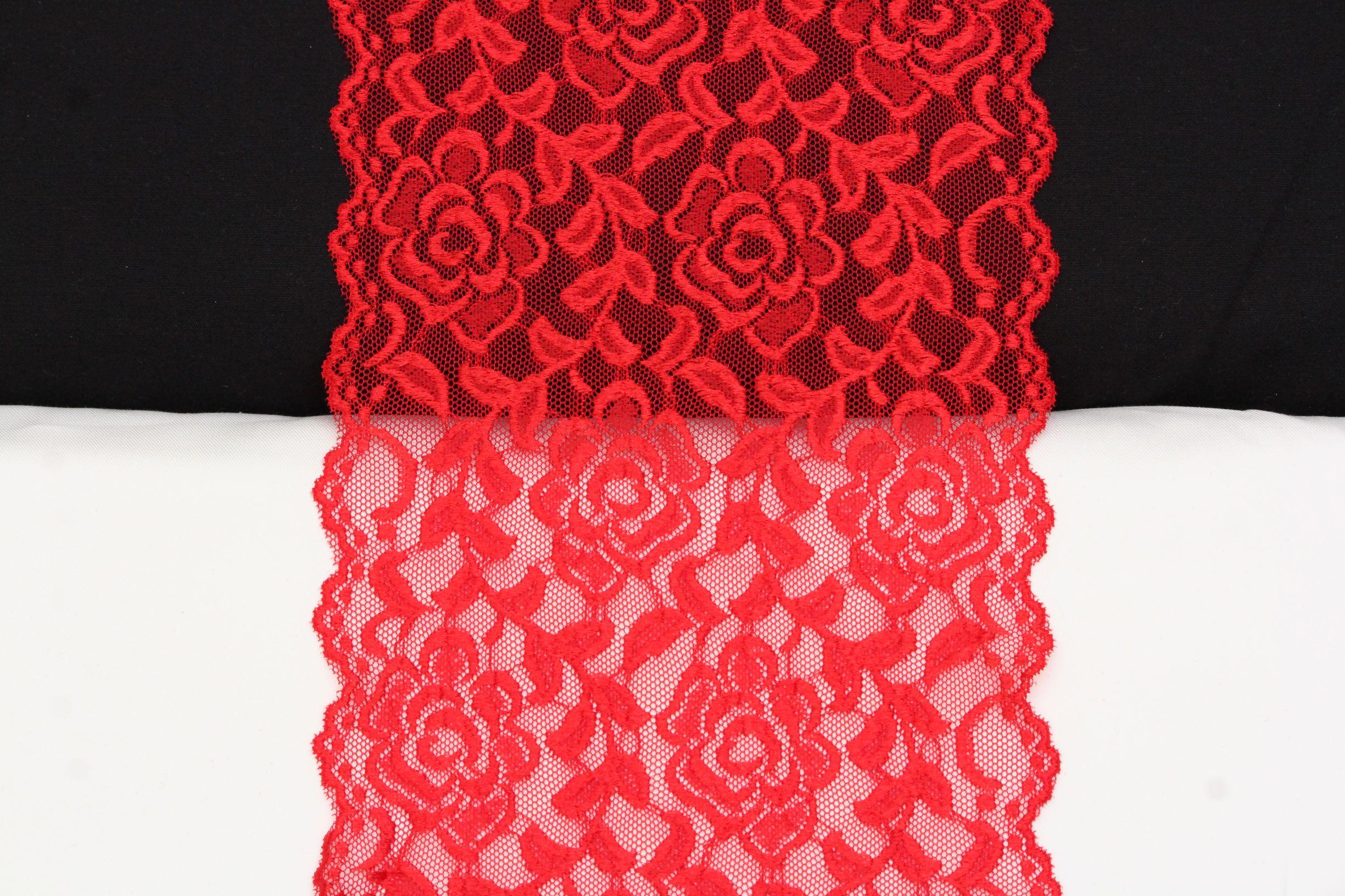 glanzende rode bloemenkant