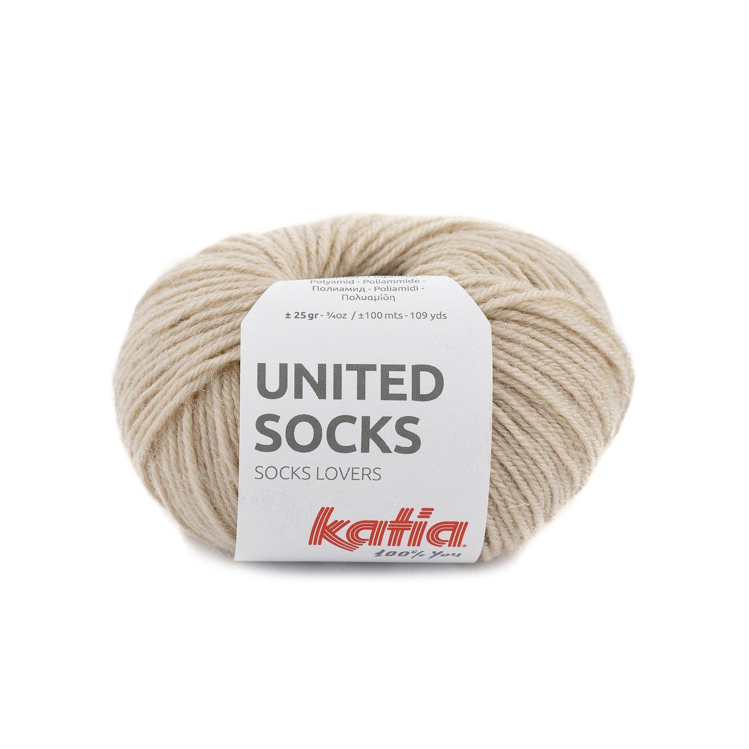 sokkenwol beige