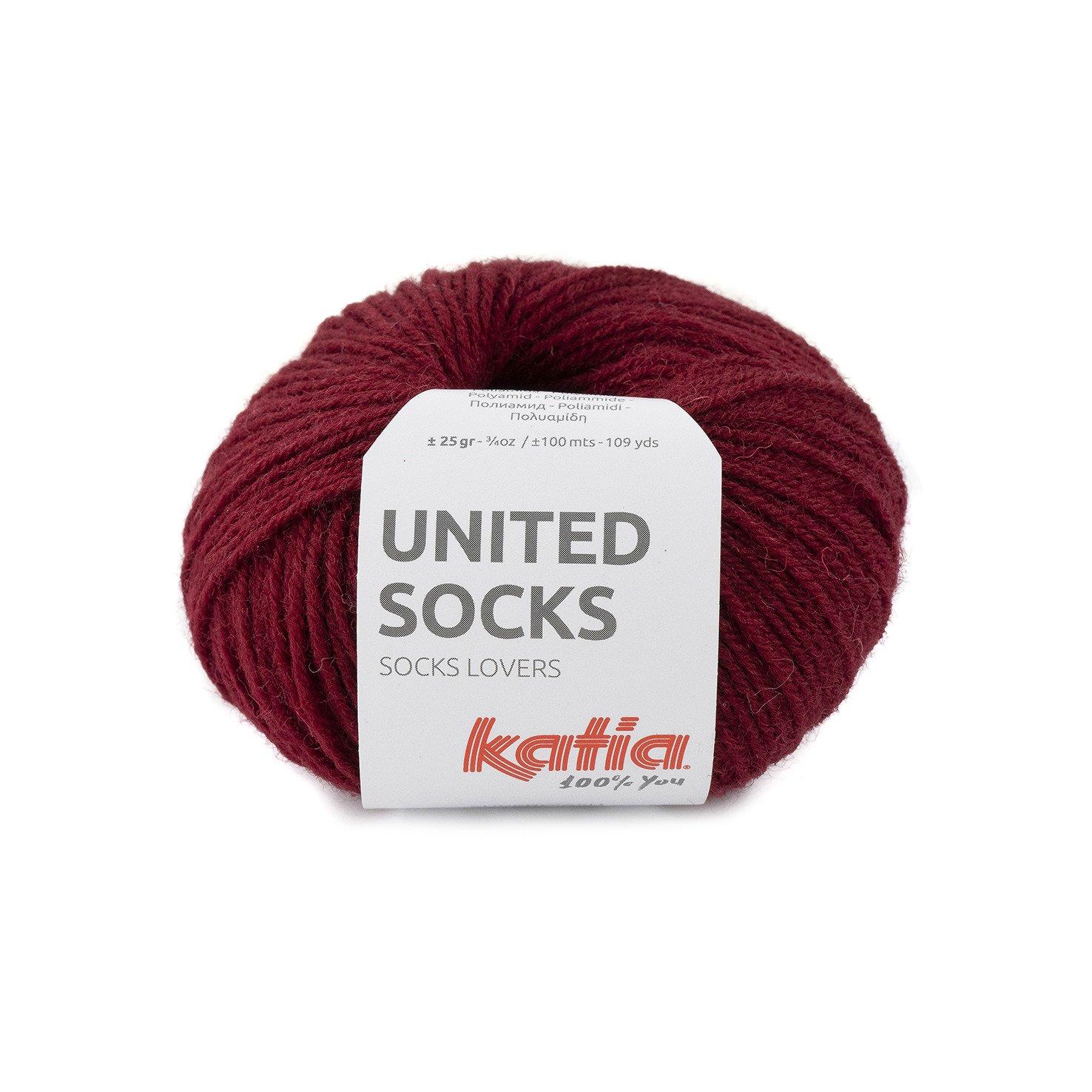 sokkenwol bordeau-paars