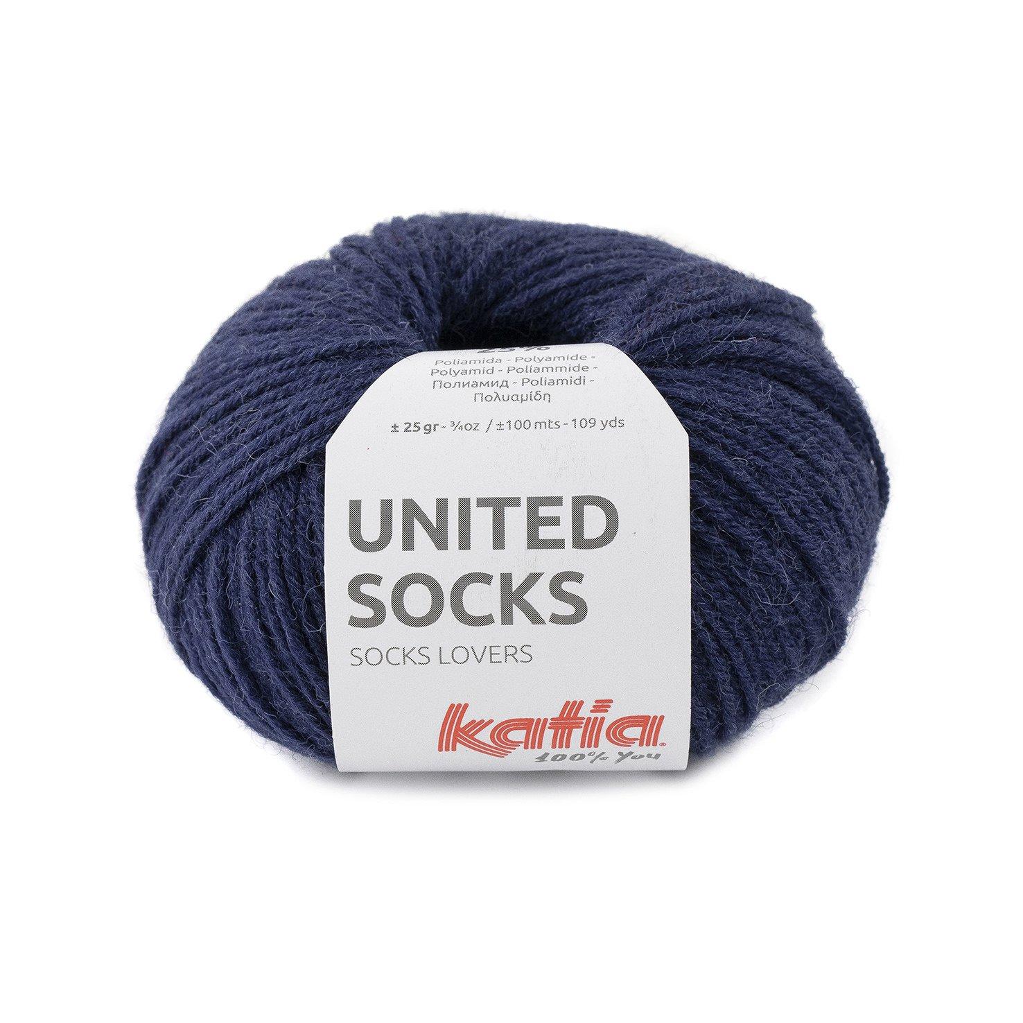 sokkenwol bonkerblauw