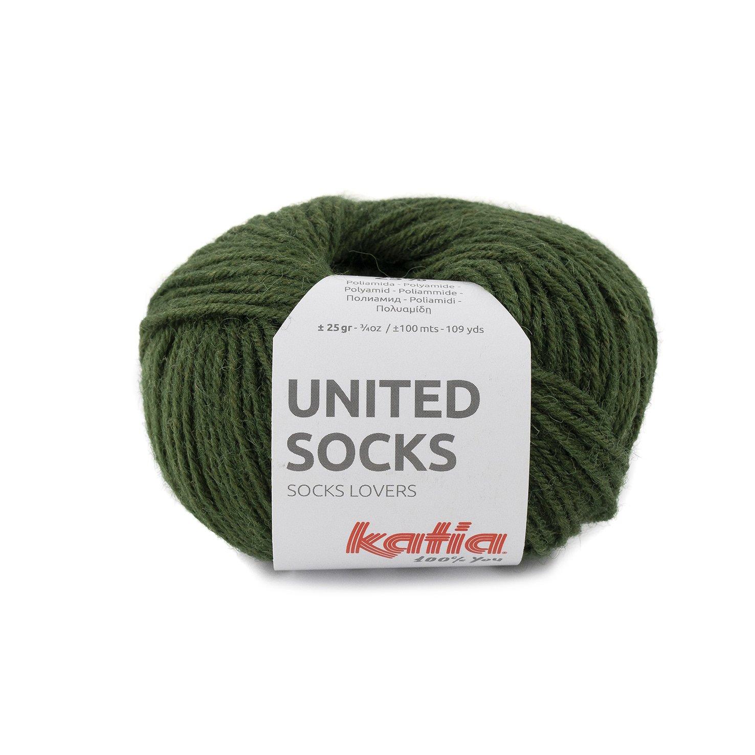 sokkenwol mosgroen