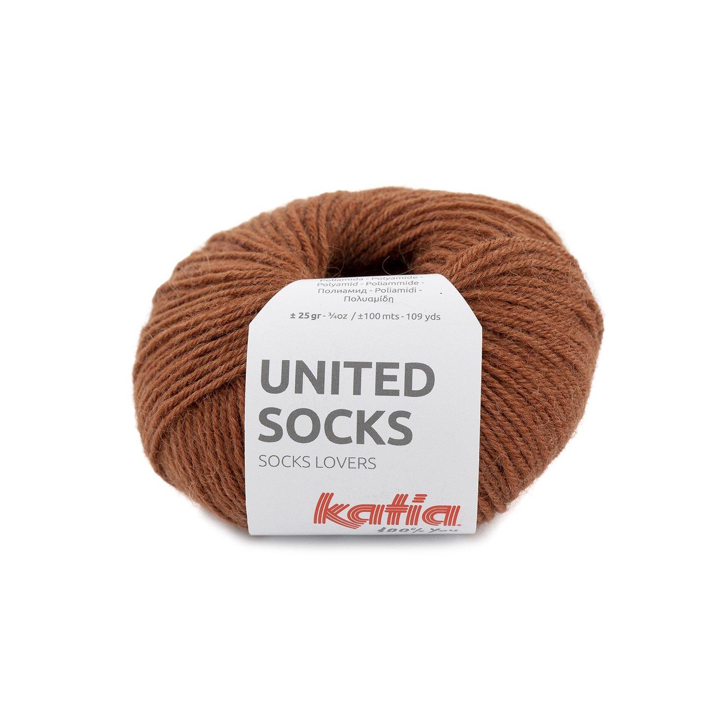 sokkenwol roestbruin