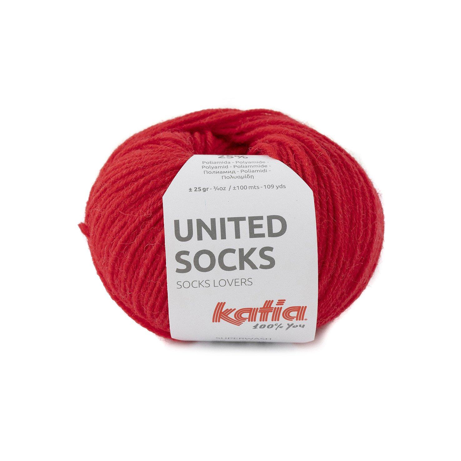 sokkenwol rood