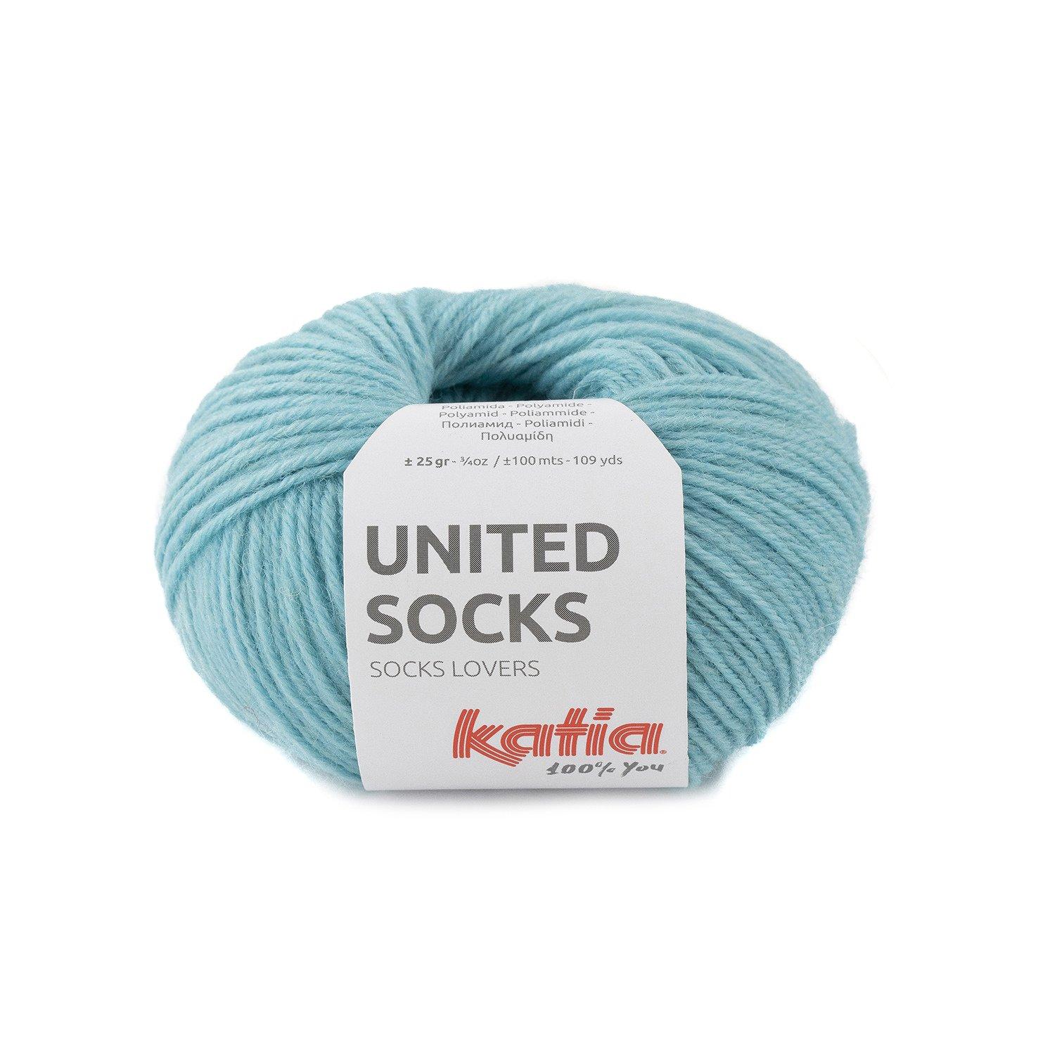 sokkenwol waterblauw