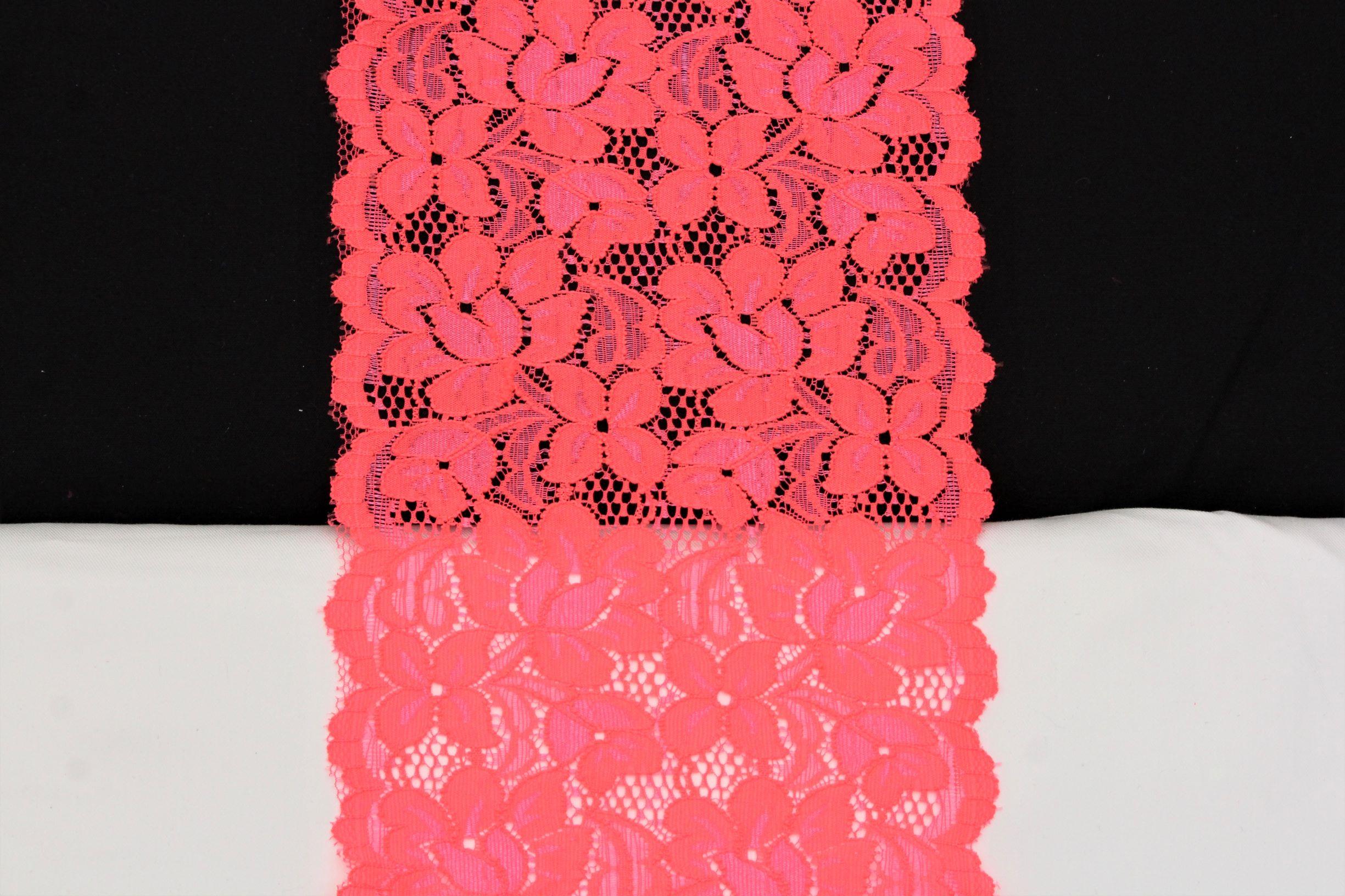 dentelle fleuri rose /oranje
